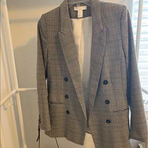 H&M Grey Check Blazer